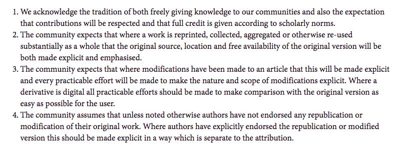 attribution principles